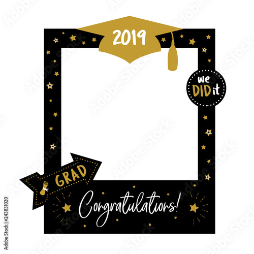 Photo Booth Props Frame For Graduation Party Stock Image And