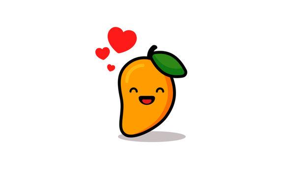 Cute Mango Vector Illustration
