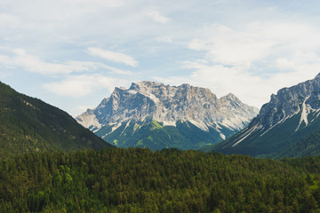 Zugspitze and a green Valley