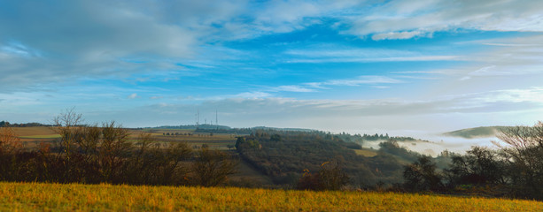 Panorama of an Autumn Morning Landscape