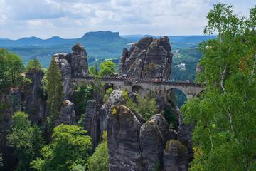 Die Felsenbrücke im Basteigebirge in der sächsischen Schweiz