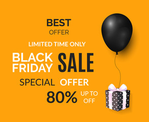 Black Friday Limited Time Only Poster with Gift