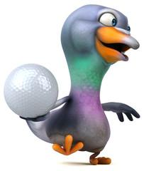 Fun pigeon - 3D Illustration