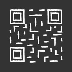 QR code chalk icon