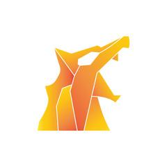 orange gradient polygonal design template