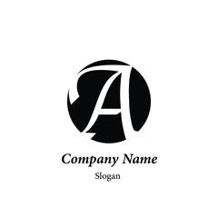 "Modern vector logo of character ""A"""
