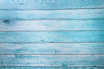 Wood texture painted in blue Wallpaper background.