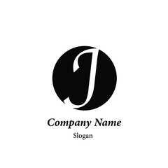 "Modern vector logo of character ""J"""