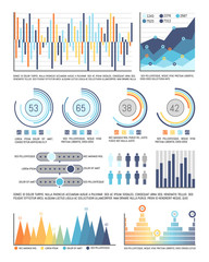 Infographics and Pie Diagram with Figures Data