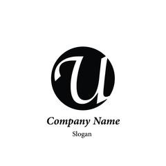 "Modern vector logo of character ""U"""