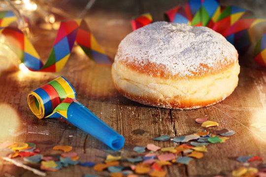 Carnival celebration with donut