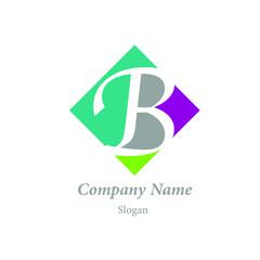 "Modern vector logo of character ""B"""