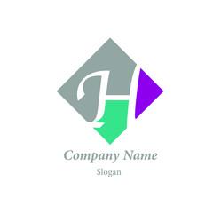 "Modern vector logo of character ""H"""