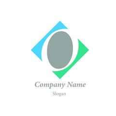 "Modern vector logo of character ""O"""