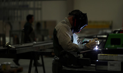 Employees work at industrial manufacturing company Gottert in Garin