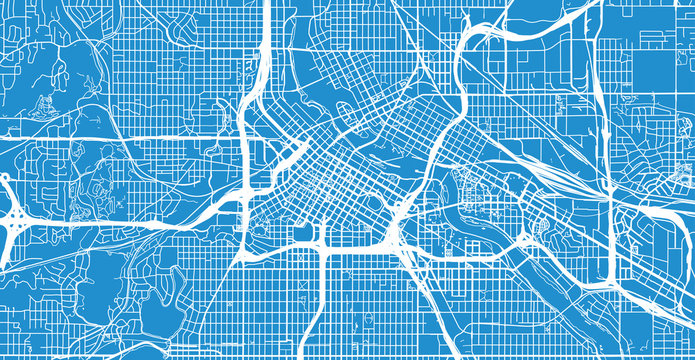 Urban vector city map of Minneapolis, Minnesota, United States of America