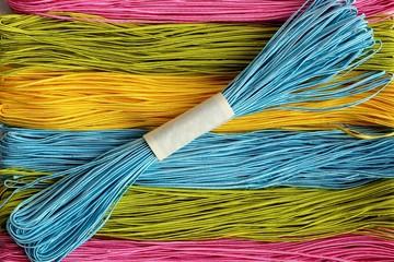 Color soutache cord close-up.