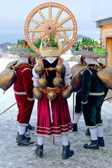 Silvesterchlausen Celebrating New Year in the Canton of Appenzell Ausserrhoden, Urnasch, Switzerland