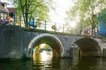 Bridges of Amsterdam, canal cruise, Netherlands