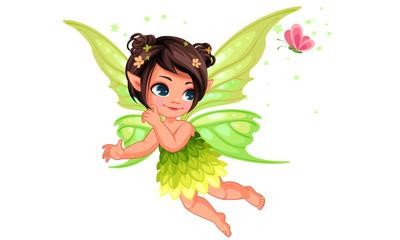 Beautiful little nature fairy