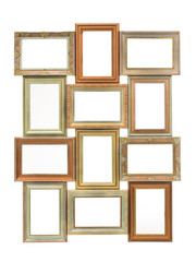 collage of old frames isolated