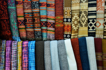 Collection of clothes with traditional motifs