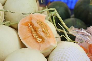 cantaloupe at street food