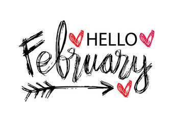 Hello February photos, royalty-free images, graphics