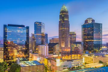 Charlotte, North Carolina, USA uptown skyline