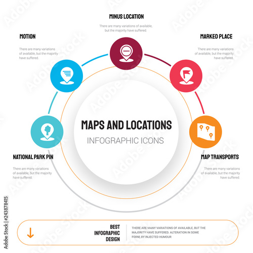 16 maps and locations vector icons set included map layer