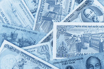 Detail of Vietnamese money background (Dong Currency)