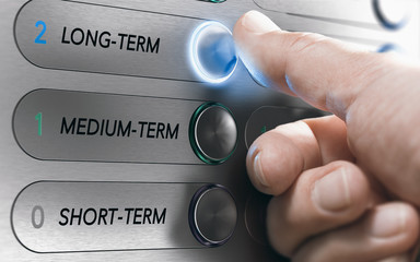 Asset Management, Long-Term Investment or Project Concept Fototapete