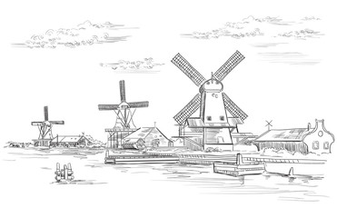 Vector hand drawing Holland 2
