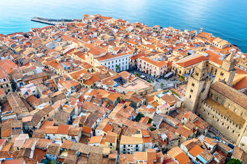 Cefalu rooftop. Sicily, Italy
