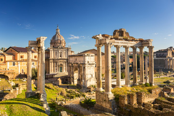 Deurstickers Rome The Roman Forum view, city square in ancient Rome, Italy