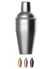 Metal cocktail shaker