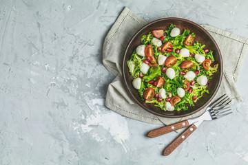 Fresh healthy delicious vegetables salad