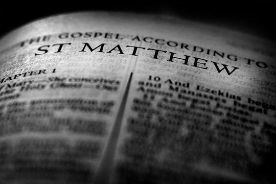 Bible New Testament Christian Gospel St Matthew Saint