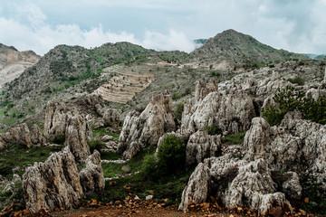 Green mountains in Lebanon ar springtime