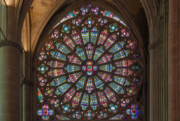 Stained glass window, France