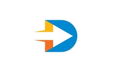 D arrow icon