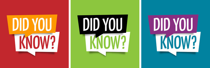 Did You Know photos, royalty-free images, graphics, vectors ...