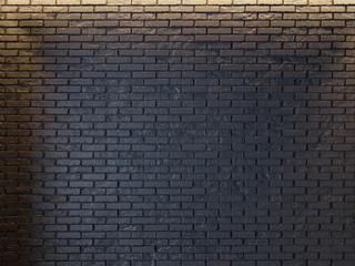 Mockup Poster in art deco style interior. 3d render. black brick wall. illustration
