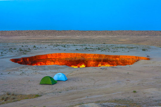 Darvaza Gas Crater Pit 10
