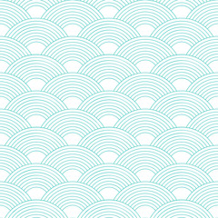 Seamless pattern. Wave. Fish scales texture. Vector illustration. Scrapbook, gift wrapping paper, textiles. Simple background