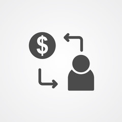 Salary vector icon sign symbol