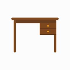 Office desk. Vector illustration. EPS 10.