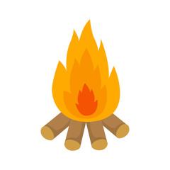 Bonfire. Firewood. Heat. Vector illustration. EPS 10.