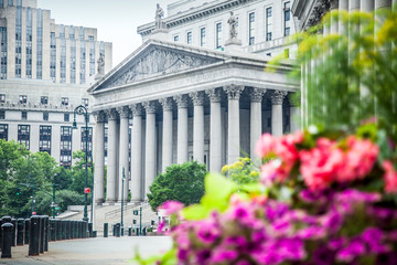 New York City Supreme Court, civil Branch of the Supreme Court of the State of New York during summer daytime