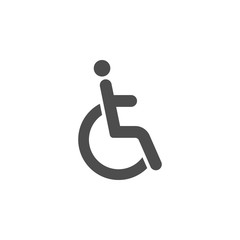 Disable icon graphic design template vector